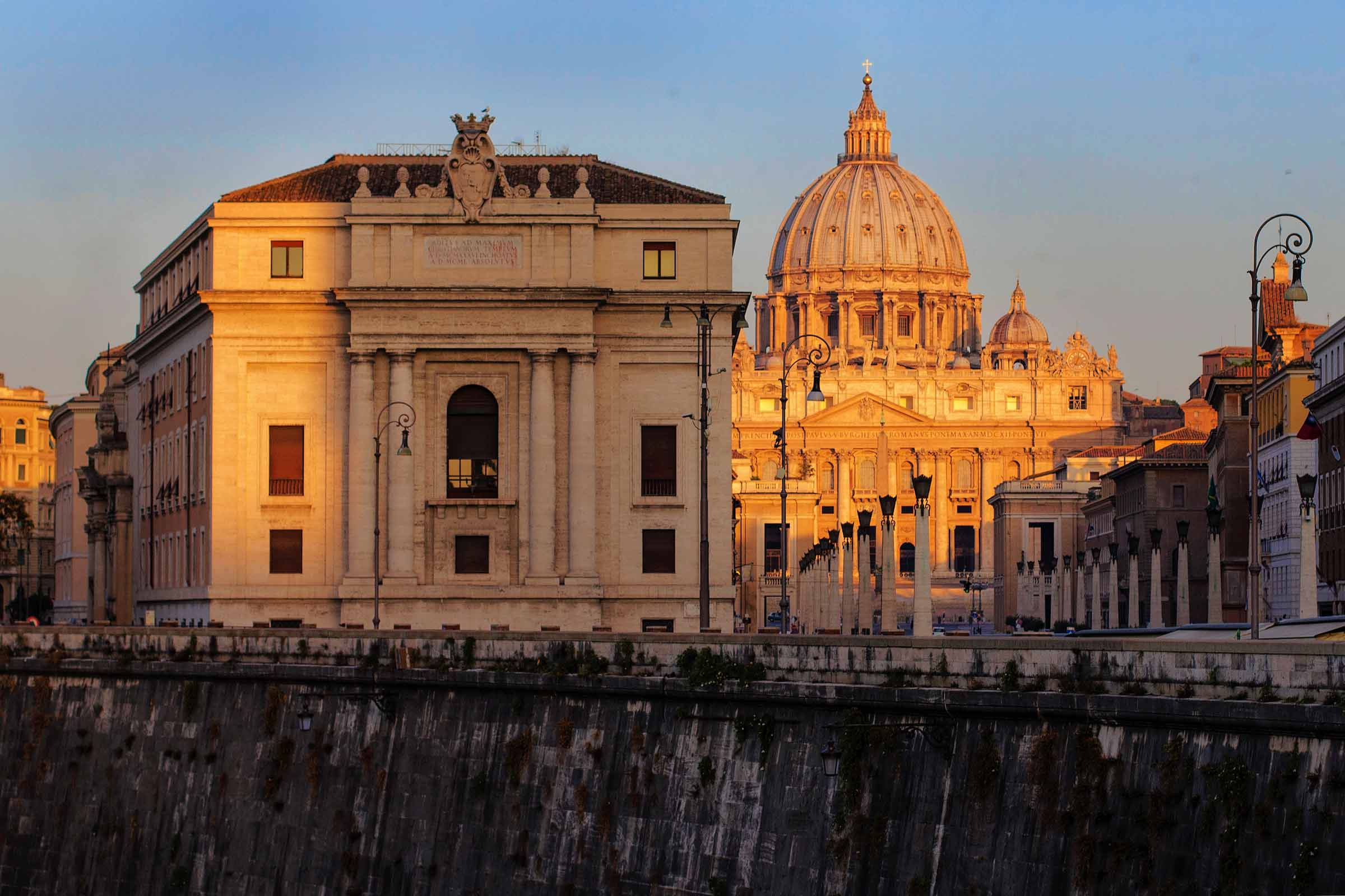 San Pietro all'alba
