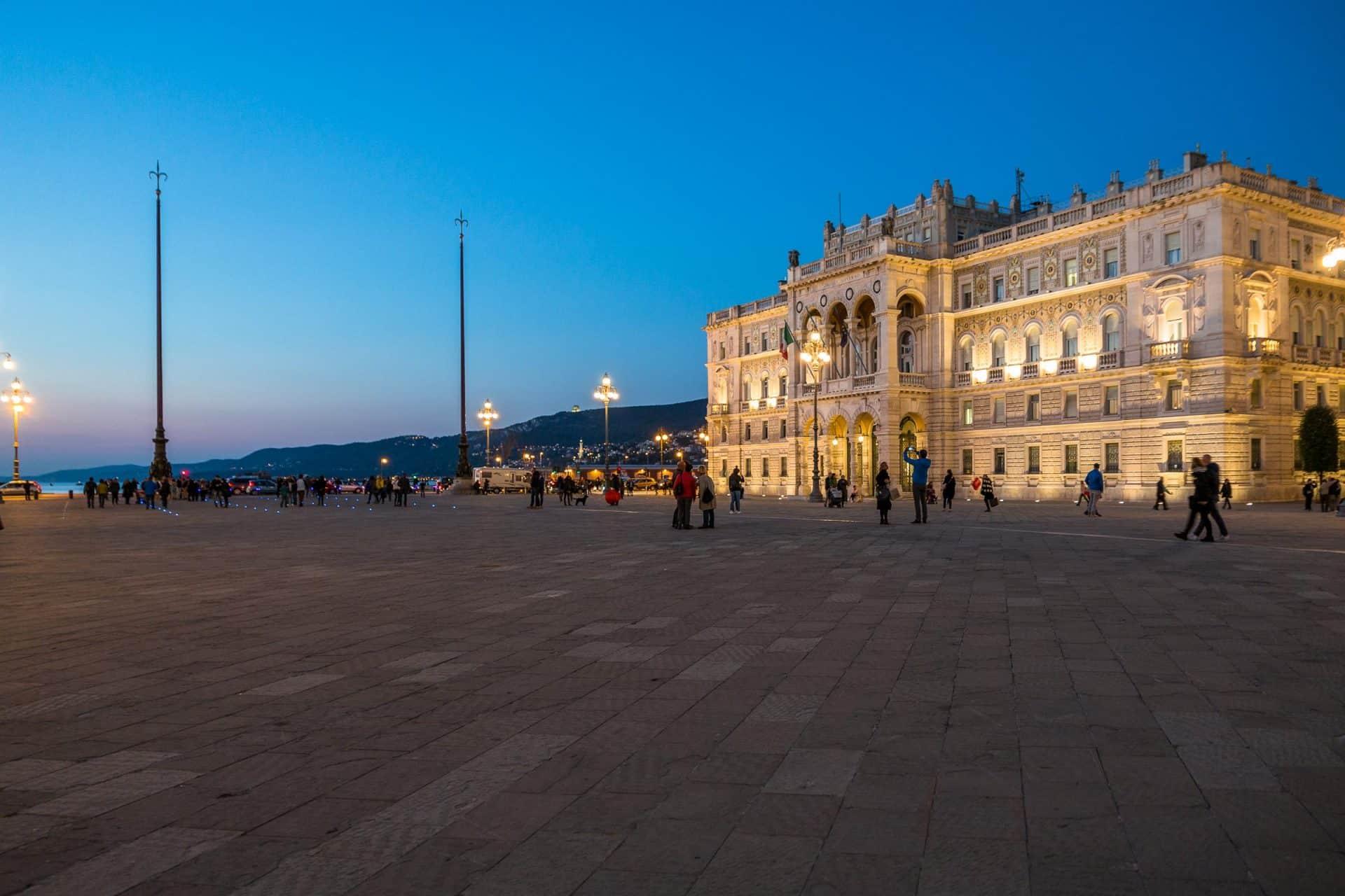 Piazza Unità verso il mare
